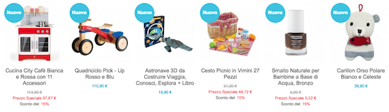 giocattoli ecologici per bambini-online